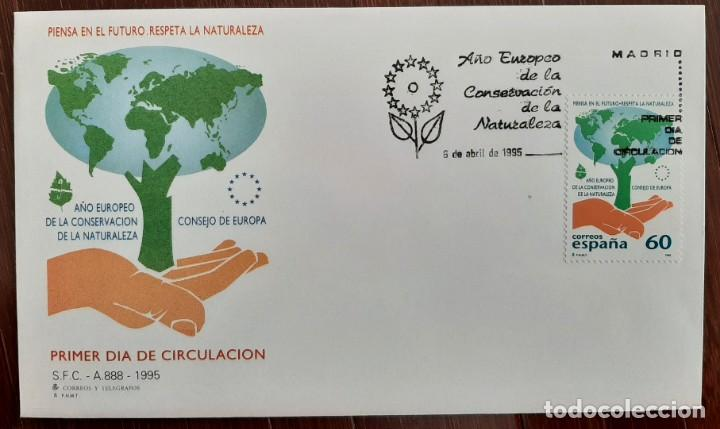 MATASELLOS PRIMER DÍA. ESPAÑA 1995. AÑO EUROPEO CONSERVACIÓN DE LA NATURALEZA (Sellos - Temáticas - Naturaleza)