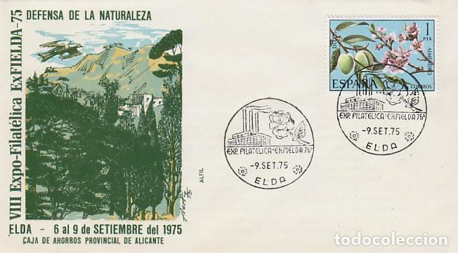 AÑO 1975, ELDA (ALICANTE, EXPOSICION EN DEFENSA DE LA NATURALEZA, SOBRE DE ALFIL (Sellos - Temáticas - Naturaleza)