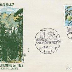 Sellos: AÑO 1975, ELDA (ALICANTE, EXPOSICION EN DEFENSA DE LA NATURALEZA, SOBRE DE ALFIL. Lote 248015620