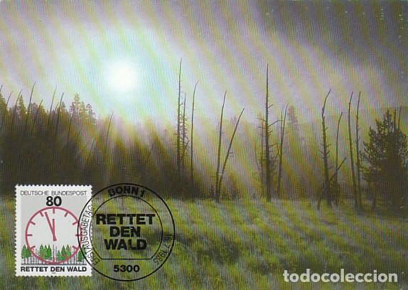 ALEMANIA IVERT 1085, PROTECCIÓN DEL BOSQUE, TARJETA MÁXIMA DE 16-7-1985 (Sellos - Temáticas - Naturaleza)