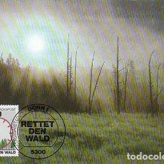 Sellos: ALEMANIA IVERT 1085, PROTECCIÓN DEL BOSQUE, TARJETA MÁXIMA DE 16-7-1985. Lote 248229660