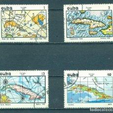 Sellos: ⚡ DISCOUNT CUBA 1973 MAPS OF CUBA U - CARDS. Lote 248374675