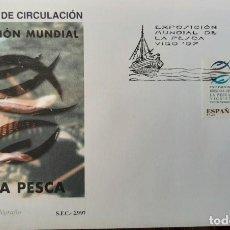 Sellos: MATASELLOS PRIMER DÍA. ESPAÑA 1997. EXPOSICIÓN MUNDIAL DE LA PESCA. Lote 249241995