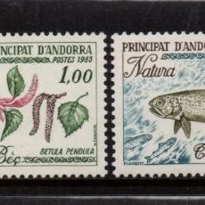 Sellos: ANDORRA 311/12** - AÑO 1984 - PROTECCION DE LA NATURALEZA - FAUNA - PECES - FLORA - ARBOLES. Lote 261593235