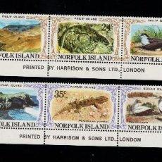 Sellos: NORFOLK 272/81** - AÑO 1982 - FAUNA - FLORA - AVES DE LAS ISLAS PHILIP Y NEPEAN. Lote 266581308