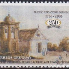 Sellos: ⚡ DISCOUNT URUGUAY 2006 THE 250TH ANNIVERSARY OF THE FOUNDING OF PAYSANDU CITY MNH - TOURISM. Lote 267408549