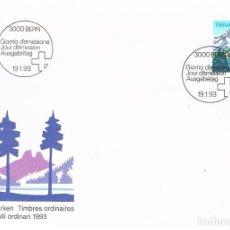 Sellos: SUIZA IVERT Nº 1418 LAGO DE TANAY, LAGO DE MONTAÑA. MATASELLOS PRIMER DIA DEL 19-1-1993. Lote 268409434