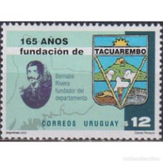 Sellos: ⚡ DISCOUNT URUGUAY 2002 THE 165TH ANNIVERSARY OF THE FOUNDATION OF TACUAREMBO MNH - CARDS, C. Lote 268836124