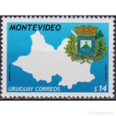 Sellos: ⚡ DISCOUNT URUGUAY 2004 DEPARTMENT OF COAT OF ARMS, MONTEVIDEO MNH - CARDS, COATS OF ARMS. Lote 268836329