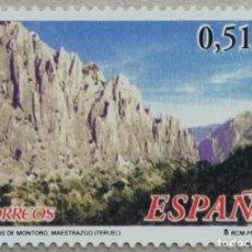 Sellos: 2003. ESPAÑA. 4035. PAISAJE. ÓRGANOS DE MONTORO. MAESTRAZGO (TERUEL). SERIE COMPLETA. NUEVO.. Lote 269481983