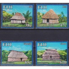 Sellos: ⚡ DISCOUNT FIJI 2016 TOURISM - NAVALA VILLAGE MNH - ARCHITECTURE, TOURISM. Lote 270388253