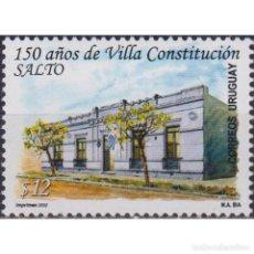 Sellos: ⚡ DISCOUNT URUGUAY 2002 THE 150TH ANNIVERSARY OF VILLA CONSTITUCION MNH - ARCHITECTURE, TOUR. Lote 270389538