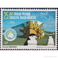 Sellos: ⚡ DISCOUNT URUGUAY 2010 THE 25TH ANNIVERSARY OF THE ARCTIC TREATY MNH - ARCTIC. Lote 270390953