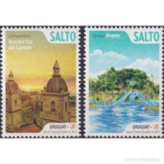 Sellos: ⚡ DISCOUNT URUGUAY 2015 TOURISM - SALTO MNH - CHURCHES, TOURISM, PONDS. Lote 270392143