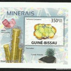 Sellos: GUINEA 2009 HOJA BLOQUE DE SELLOS -TEMA NATURALEZA MINERALES- MINERAL- PIEDRAS PRECIOSAS- GEMAS. Lote 276066768