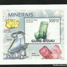 Sellos: GUINEA 2009 HOJA BLOQUE DE SELLOS -TEMA NATURALEZA MINERALES- MINERAL- PIEDRAS PRECIOSAS- GEMAS. Lote 276066913