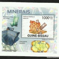 Sellos: GUINEA 2009 HOJA BLOQUE DE SELLOS -TEMA NATURALEZA MINERALES- MINERAL- PIEDRAS PRECIOSAS- GEMAS. Lote 276067233