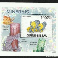 Sellos: GUINEA 2009 HOJA BLOQUE DE SELLOS -TEMA NATURALEZA MINERALES- MINERAL- PIEDRAS PRECIOSAS- GEMAS. Lote 276067413