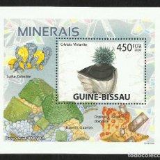 Sellos: GUINEA 2009 HOJA BLOQUE DE SELLOS -TEMA NATURALEZA MINERALES- MINERAL- PIEDRAS PRECIOSAS- GEMAS. Lote 276067573