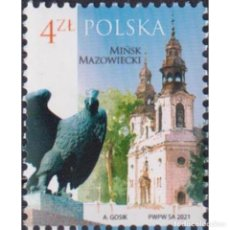 Sellos: ⚡ DISCOUNT POLAND 2021 POLISH CITIES - MINSK MAZOWIECKI MNH - BIRDS, CHURCHES, TOURISM. Lote 276608098
