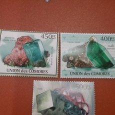 Sellos: SELLO COMORAS (I. COMORES) NUEVOS/2011/MINERALES/FLOURITA/ROCA/NATURALEZA/CU/LEER REGALO DESCRIPCION. Lote 276817218