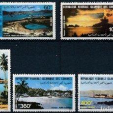 Sellos: COMORES 1983 IVERT 388/92 *** PAISAJES DE COMORES - NATURALEZA. Lote 284703463