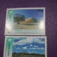 Sellos: SELLO NACIONES UNIDAS (VIENA) NUEVOS/1991/1ANIV/INDEPENDENCIA/NAMIBIA/NATURALEZA/FLORA/FAUNA/PAISAJE. Lote 287560653