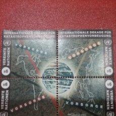 Sellos: SELLO NACIONES UNIDAS (VIENA) NUEVO/1994/REDUCCION/DESASTRES/NATURALES/GLOBO/TERRAQUEO/CONTINENTES/. Lote 287774698