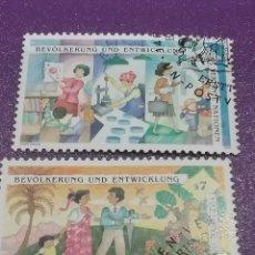 Sellos: SELLO NACIONES UNIDAS (VIENA) MTDOS/1994/CONFERENCIA/POBLACION/TRABAJOS/NATURALEZA/FLORA/FLORES/PROF. Lote 287775463