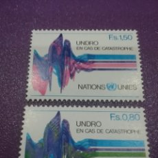 Sellos: SELLO NACIONES UNIDAS (GINEBRA) NUEVO/1979/COORDINADORA/DESASTRES/NATURALES/CARTOGRAFIA/UNDRO/GLOBO/. Lote 288370068