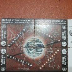 Sellos: SELLO NACIONES UNIDAS (GINEBRA) NUEVO/1994/REDUCCION/DESASTRE/NATURALES/GLOBO/TERRAQUEO/CONTINENTES/. Lote 288983518