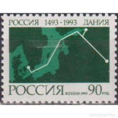 Sellos: ⚡ DISCOUNT RUSSIA 1993 INAUGURATION OF RUSSIA-DENMARK MNH - CARDS, DIPLOMACY. Lote 289991168