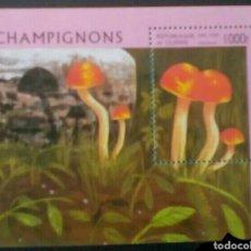 Sellos: CHAMPIÑONES HOJA BLOQUE DE SELLOS NUEVOS DE GUINEA. Lote 293228513