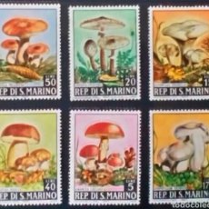 Sellos: SETAS Y CHAMPIÑONES SERIE DE SELLOS NUEVOS DE SAN MARINO. Lote 293229338