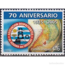 Sellos: ⚡ DISCOUNT URUGUAY 2005 THE 70TH ANNIVERSARY OF ASSOCIATION OF ZOLLABFERTIGER MNH - CARDS, C. Lote 297143078