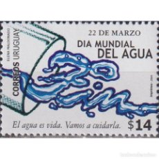 Sellos: ⚡ DISCOUNT URUGUAY 2004 INTERNATIONAL WATER DAY MNH - NATURE, WATER. Lote 297145988