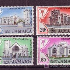 Sellos: JAMAICA 500/03*** AÑO 1980 - NAVIDAD - IGLESIAS DE KINGSTON. Lote 22802849