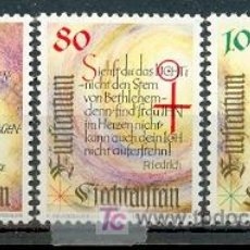 Sellos: LIECHTENSTEIN - NAVIDAD. SERIE COMPLETA DE 3 SELLOS. SELLOS NUEVOS CON GOMA ORIGINAL. Lote 16505764