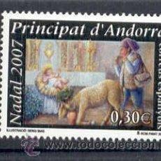 Sellos: ANDORRA ESPAÑOLA 2007.- NAVIDAD. Lote 8192823