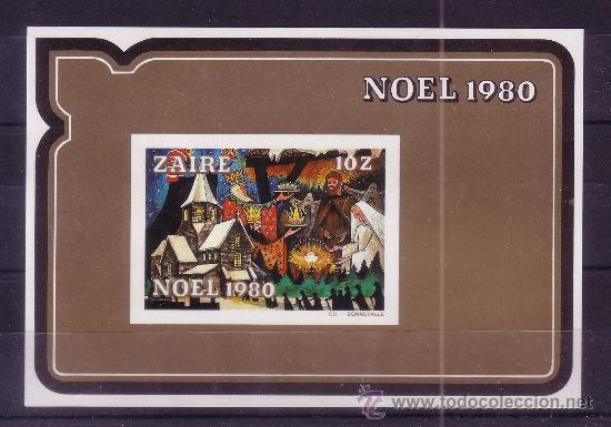 ZAIRE HB 24*** SIN DENTAR - AÑO 1980 - NAVIDAD (Sellos - Temáticas - Navidad)