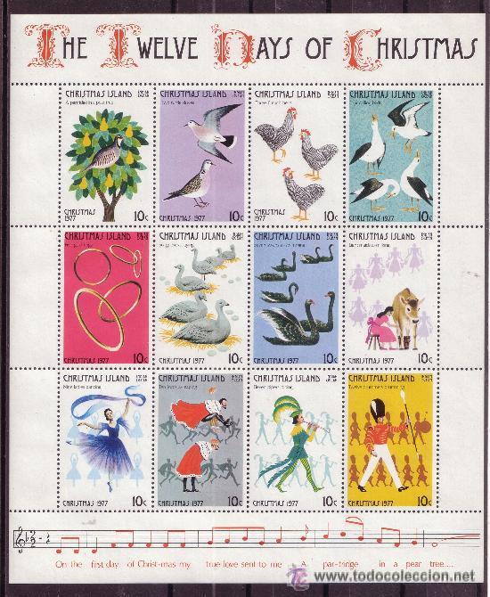 CHRISTMAS 74/85*** - AÑO 1977 - NAVIDAD - FAUNA - AVES (Sellos - Temáticas - Navidad)