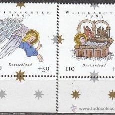 Sellos: ALEMANIA IVERT Nº 1917/8, NAVIDAD 1999, NUEVO ***. Lote 22467070