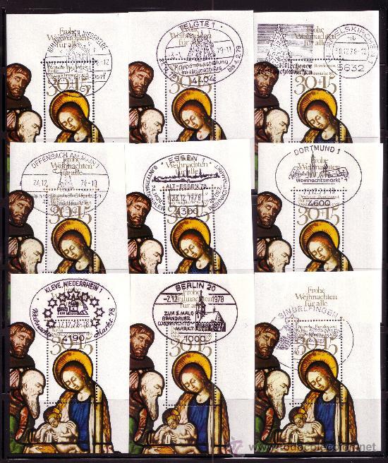 BERLÍN HB 5 MATASELLO DE NAVIDAD PRIMER DÍA DE CIUDADES ALEMANAS - AÑO 1976 - NAVIDAD (Sellos - Temáticas - Navidad)
