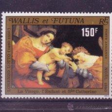 Sellos: WALLIS Y FUTUNA AEREO 107*** - AÑO 1980 - NAVIDAD - PINTURA RELIGIOSA - OBRA DE LORENZO LOTTO. Lote 22756666