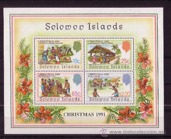 SALOMON HB 29*** AÑO 1991 - NAVIDAD - COSTUMBRES DE LAS ISLAS (Sellos - Temáticas - Navidad)