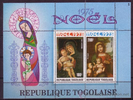 TOGO HB 89*** - AÑO 1975 - NAVIDAD - PINTURA RELIGIOSA - OBRAS DE BARROCCI Y BELLINI (Sellos - Temáticas - Navidad)