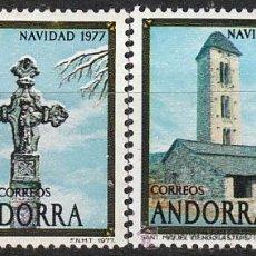 Sellos: ANDORRA EDIFIL Nº 110/1, NAVIDAD 1977, NUEVO. Lote 19839461