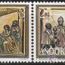 Sellos: ANDORRA EDIFIL Nº 106/7, NAVIDAD 1976: IGLESIA DE LA MASSANA, NUEVO. Lote 25345232