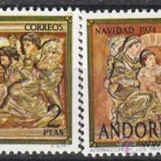 Sellos: ANDORRA EDIFIL Nº 094/5, NAVIDAD 1974, NUEVO. Lote 25345252