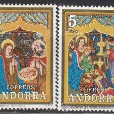 Sellos: ANDORRA EDIFIL Nº 087/8, NAVIDAD 1973 (RETABLO DE NUESTRA SEÑORA DE MERITXEL), NUEVO. Lote 25345275